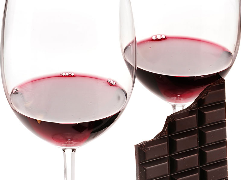 Wine and chocolate for nutrition