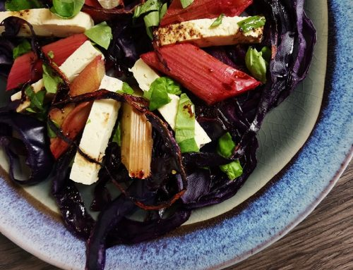 Rhubarb & Red Cabbage Salad