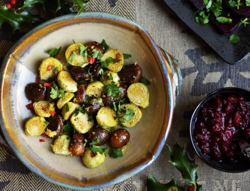 Roasted Sprouts & Chestnuts
