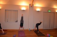 Yoga Refine & Play workshop student handstand