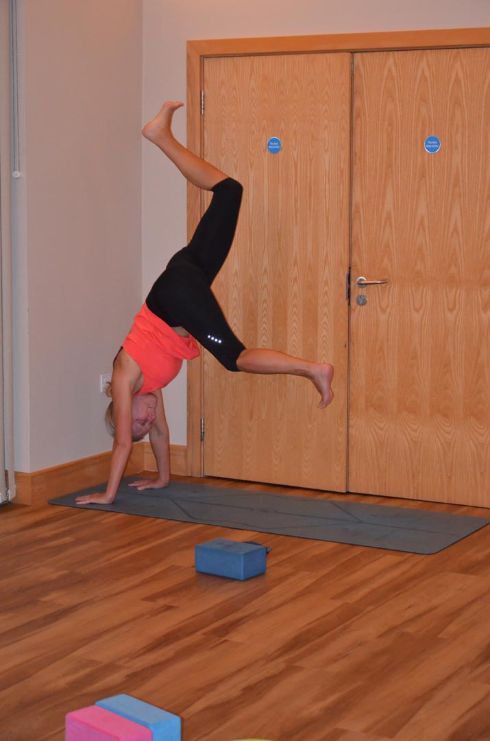 Yoga Refine & Play workshop student handstand